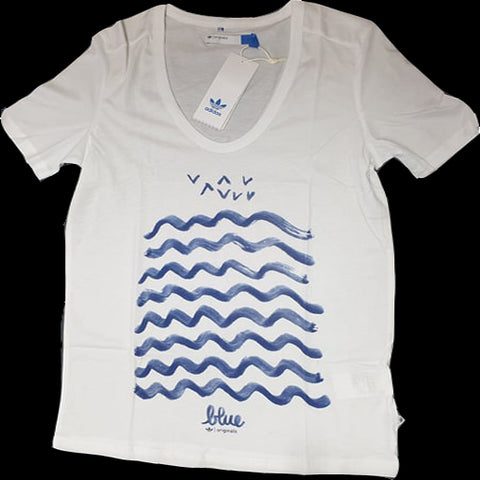 108 x adidas Originals Ladies W-Graphic Waves T-Shirts rrp£40 -AMAZINGLY ONLY £1.99!!