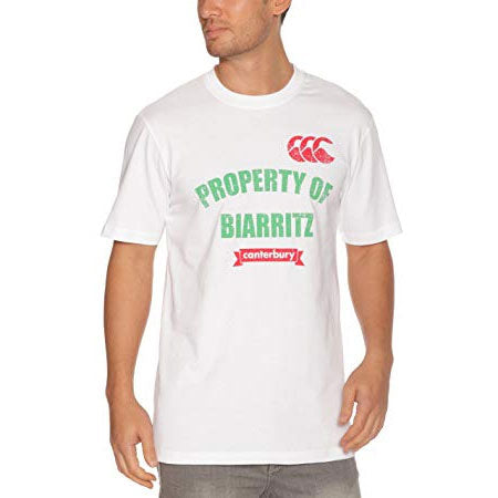 13 x Canterbury Men's White Property of Biarritz Tee (C07368) rrp£30, Now Just £5.49!!