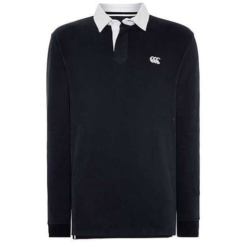 20 x Canterbury Mens Long Sleeve Plain Black Rugby Jerseys (B972811 A89) rrp£60 - Only £16.49