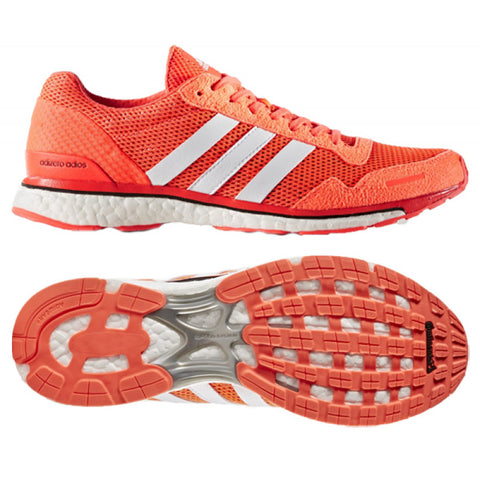 8 x adidas Adizero Adios Boost 3 Mens Running Trainers AQ2429 rrp£140 Was £45.79 Now 39.99