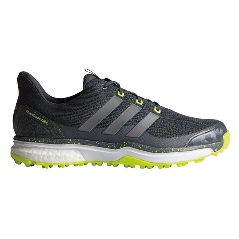 10 x adidas Adipower Sport Boost 2.0 Golf Shoes Onyx Iron Metallic Solar Yellow F33218- rrp£120 Only £42.99