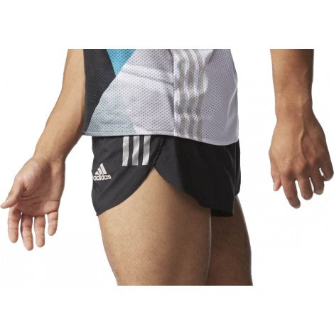Last 10 x adidas Adizero Split Mens Running Shorts - Black AI3183 rrp£37 Only £11.59