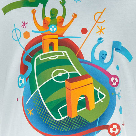 Last 22 x adidas Euro 2016 Childrens Stadium T-Shirt (AI5669) rrp£20 Now £1.49