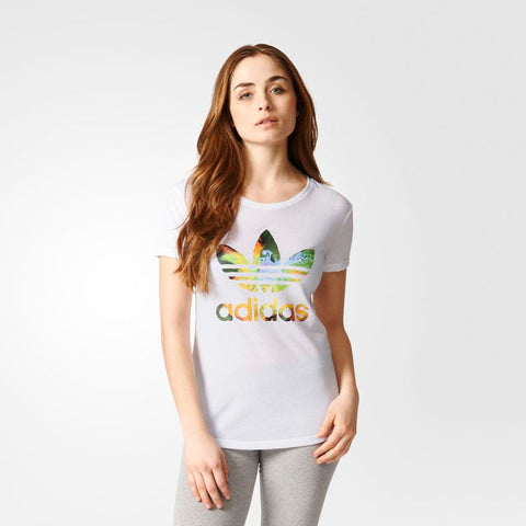 Last 8 x adidas Originals Womens Graphic Trefoil T-Shirt AY6661 rrp£25 Only £5.49