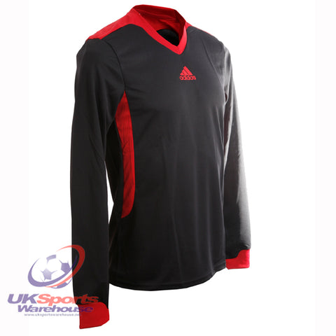 42 x adidas Tabela II Climalite Long Sleeved Football Shirt Jersey Black rrp£25 Only £5.69!!