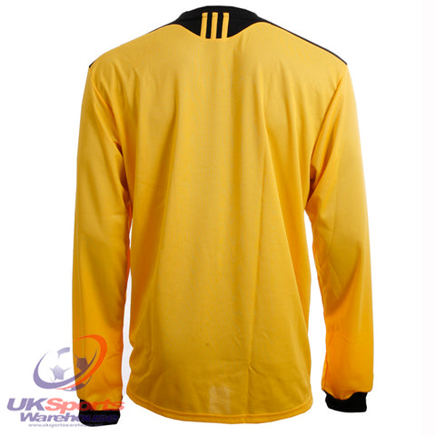15 x adidas Tabela II Climalite Long Sleeved Football Shirt Jersey Yellow rrp£25 Only £5.69!!