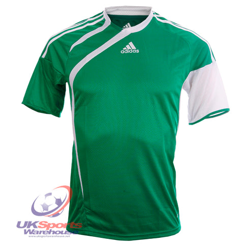 19 x adidas Tiro Climacool Short Sleeved Football Shirt Jersey Green/White rrp£25 Only £5.99