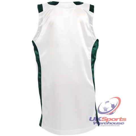 17 x adidas Basketball Jersey Shirt Vest Tank Top - White/Forest - E73851 - rrp£30 Only £8.29!!