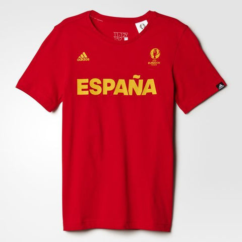 163 x adidas Spain National Football T-Shirts rrp£30 (AI5676) - Kids - Graded - Incredibly Now Only £1.49 each!