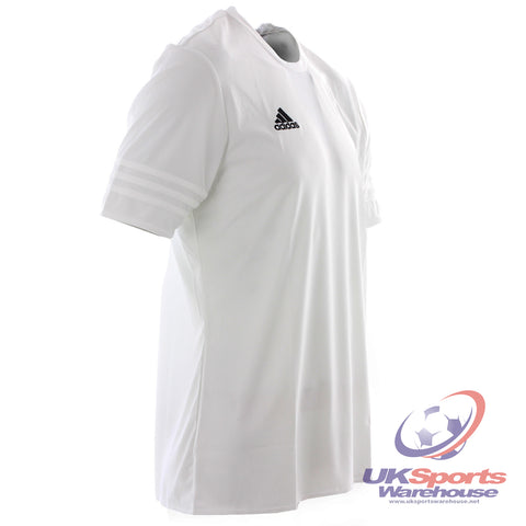 40 x adidas Entrada 14 Adults Football Soccer Shirt Jersey Climalite White rrp£20 Only £5.19!!
