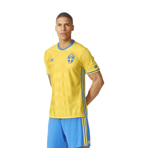 21 x adidas Performance Mens Sweden Football Jerseys (AI4748) rrp£70 - Incredibly Only £9.99