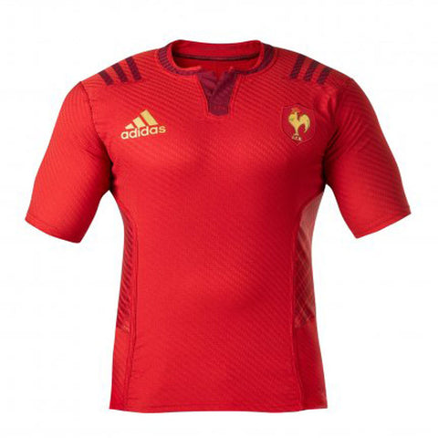 9 x adidas France Short Sleeved Away Rugby Shirt S07490 rrp£60 Only £12.19!!