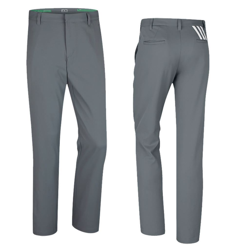 Last 10 x adidas Mens PureMotion Stretch 3-Stripe Pant Golf Trousers - B82633 - rrp£60 Now £16.99