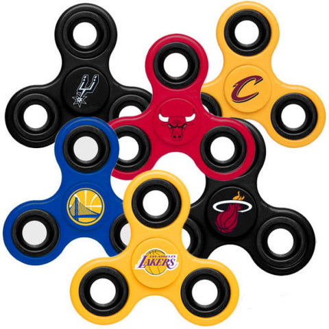 864 x *FURTHER PRICE DROP* Official NBA Diztracto Spinnerz (Miami Heat / New York Knicks / Los Angeles Lakers etc rrp£20 CLEAR ALL 99p !!!! (1728 In Stock)