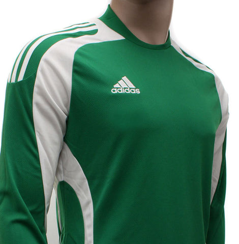 24 x adidas Toque Climacool Long Sleeved Football Shirt Jersey Green/White rrp£25 Only £5.69!!