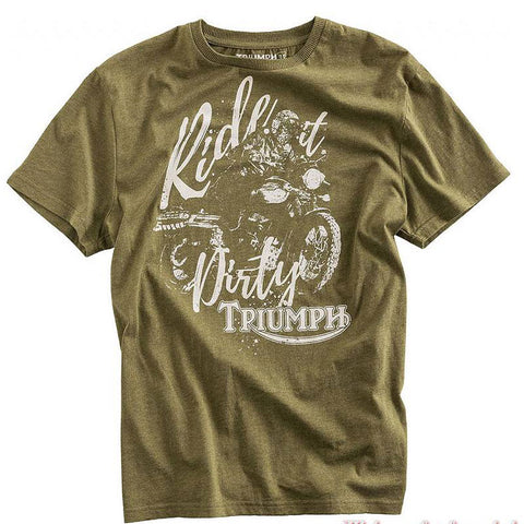 Last 31 x Triumph Dirt Track Designer T-Shirts 100% Cotton rrp £35 - Only £2.99!!