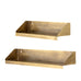 Una - Antique Brushed Brass Shelf (two sizes, 38cm or 51cm)