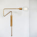 Lana Swing Arm Wall Light - Brushed Brass (Medium)