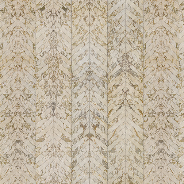 NLXL Materials Collection - PHM-65 Beige Marble Herringbone Wallpaper by Piet Hein Eek