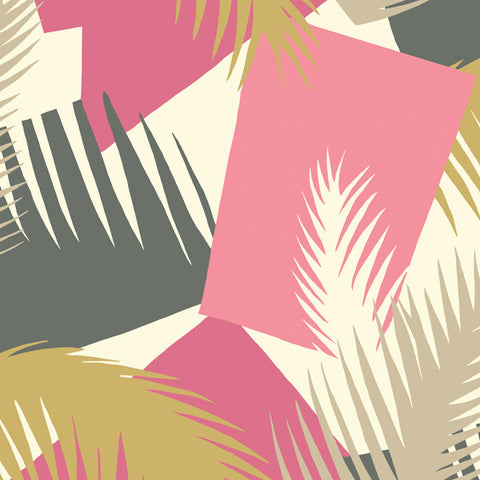 Deco Palm in Hollywood Pink + Gold by Cole + Son