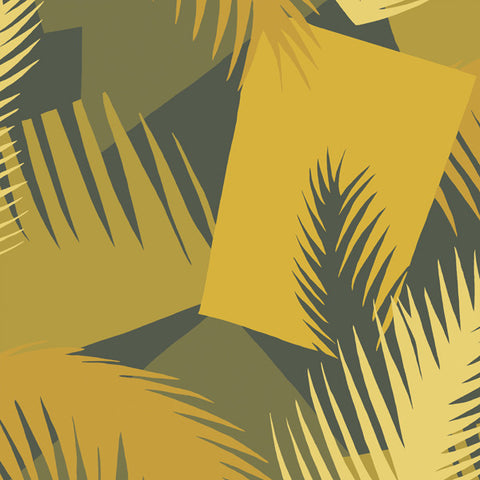Deco Palm in Acid Yellow + Charcoal by Cole + Son