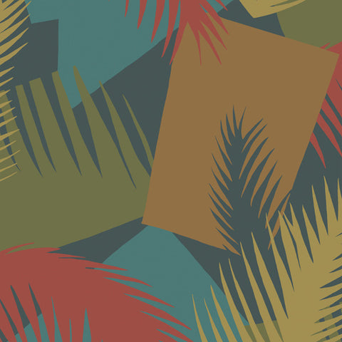Deco Palm in Bohemian Brick + Teal by Cole + Son