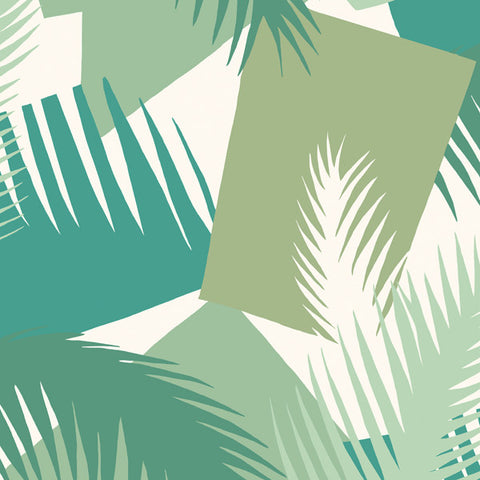 Deco Palm in Leafy Greens by Cole + Son
