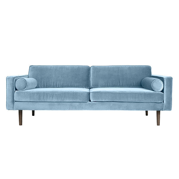 Velvet Sofa in Porcelain Blue
