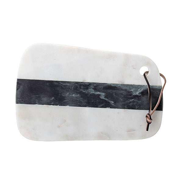 Luxe Marble Cutting Board with Leather Handle