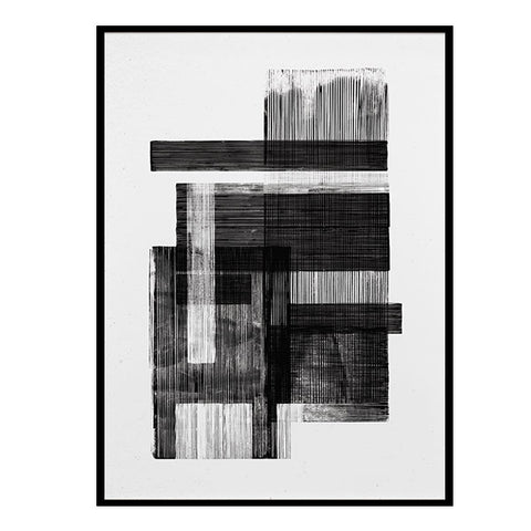 Midnight 02 - Monochrome Art Print by Lemon Design Studio (50x70cm)