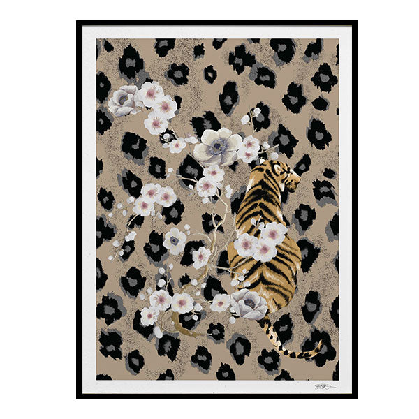 Tiger Art Print - Curated by Darling Creative Studio (30x40cm)