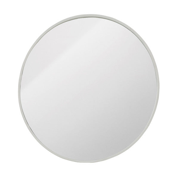 Round Mirror with white metal frame - X Large – Mink Interiors