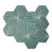 Dandelion Cement Tiles - Bottle Green + Canvas