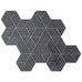 Fold Cement Tiles - Soot + Pure White