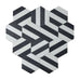 Kimono Cement Tiles - Charcoal + Pure White