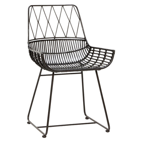 Modern Black Rattan Chair *as seen in 25 Beautiful Homes*