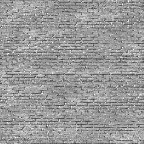 NLXL Materials Collection - PHM-34 Silver Grey Brick Wallpaper by Piet Hein Eek