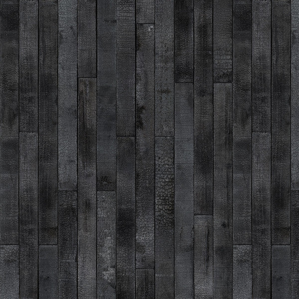 NLXL Materials Collection - PHM-35 Maarten Baas Burnt Wood Wallpaper by Piet Hein Eek