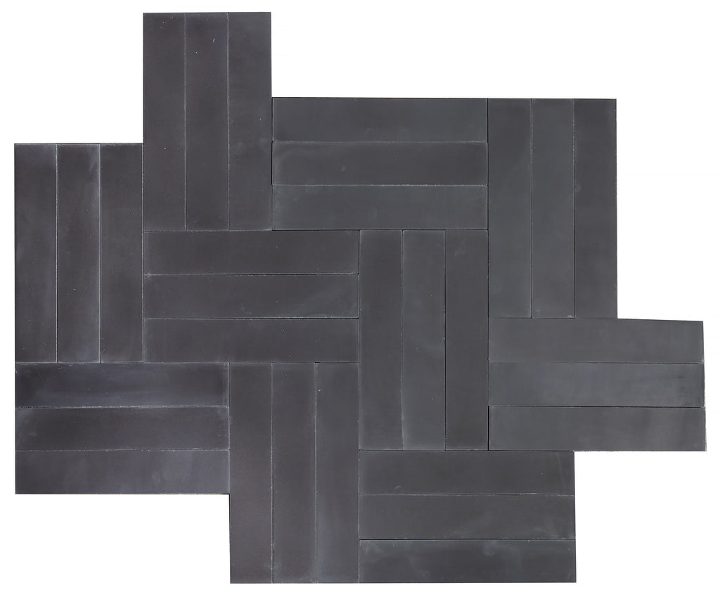 Twigs Cement Tiles - Soot