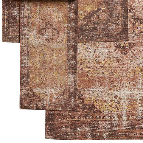 Vintage style rug runner in faded warm-rust (75 x 200cm)