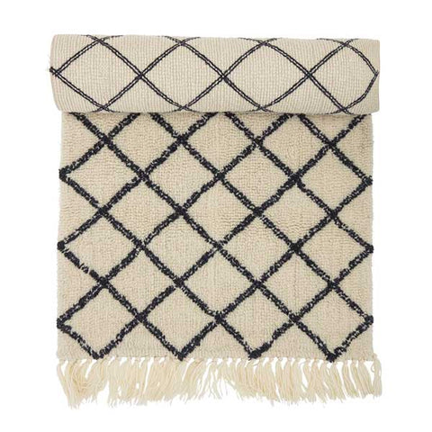 Berber Style Wool Runner with Tassels (200cm Long)