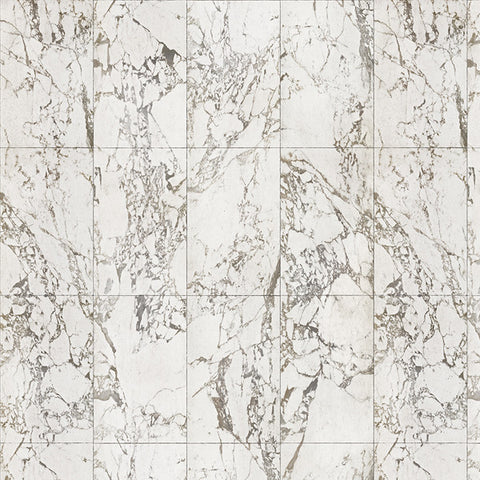 NLXL Materials Collection - PHM-40A White Marble No Joints Wallpaper by Piet Hein Eek
