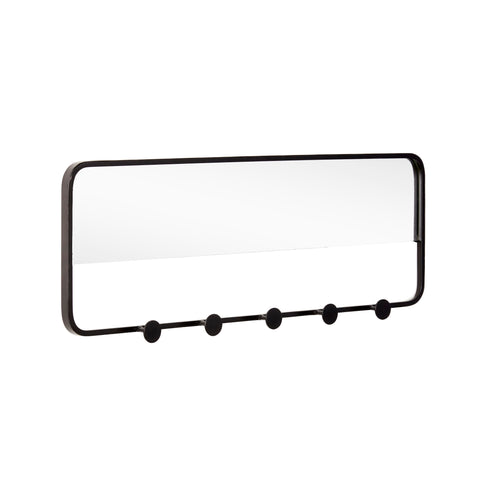 Marcel - Modern Multi Hook Rack with Mirror
