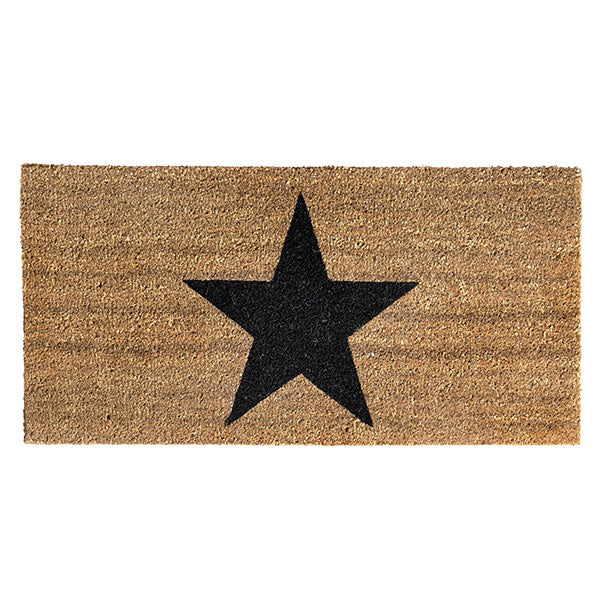 Black Star Natural Floor Mat