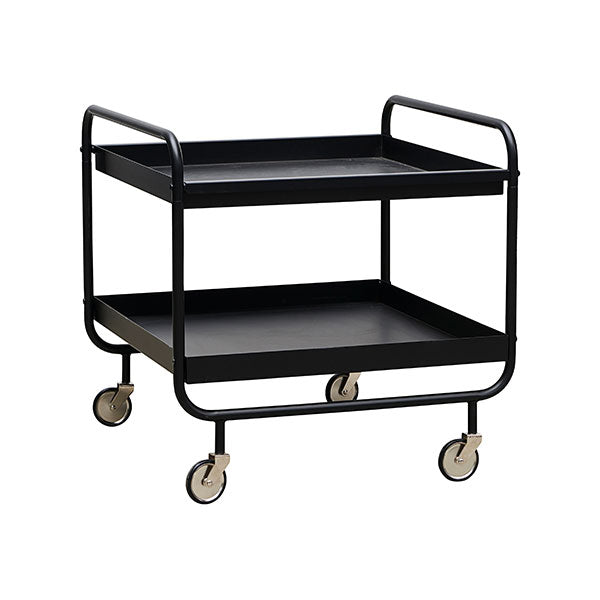 Storage Table On Wheels - Matt Black