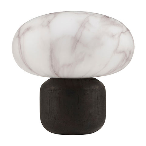 Collette Table Lantern - White Marble