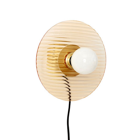Honey Wall Light - Brass + Fluted Glass