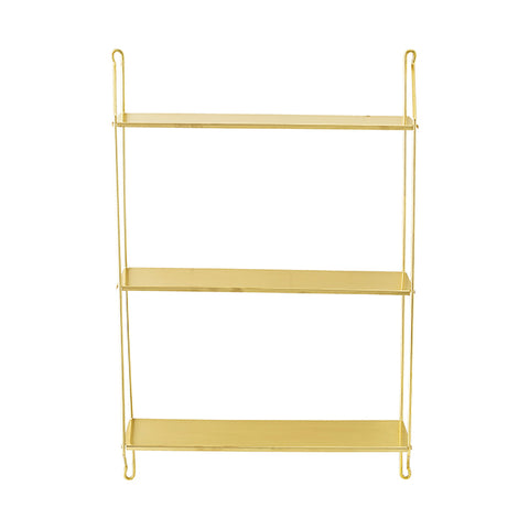 Delphine - Brass Shelving Unit
