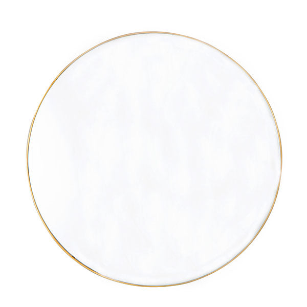 Large Round Mirror with Thin Profile Brass Frame (80cm)