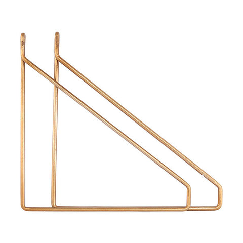 Shelf Bracket - Brass